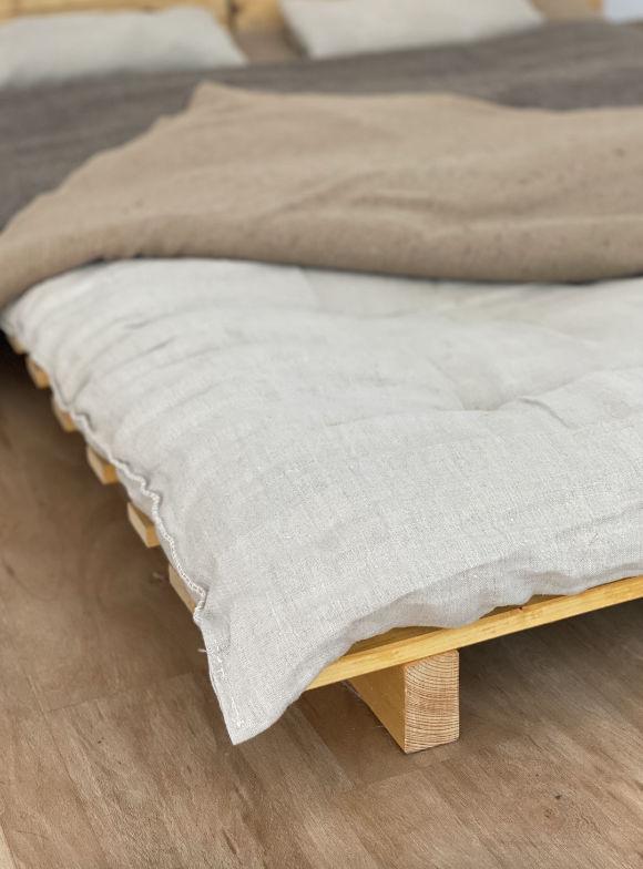 Unsere mit Wolle gefüllte Matratze.